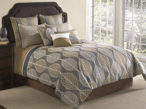 Branson Piece Comforter Set Grey Tan