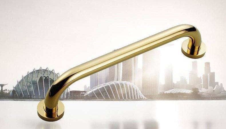 Brass Grab Bar Home Wall Mounted Towel Rack Safety