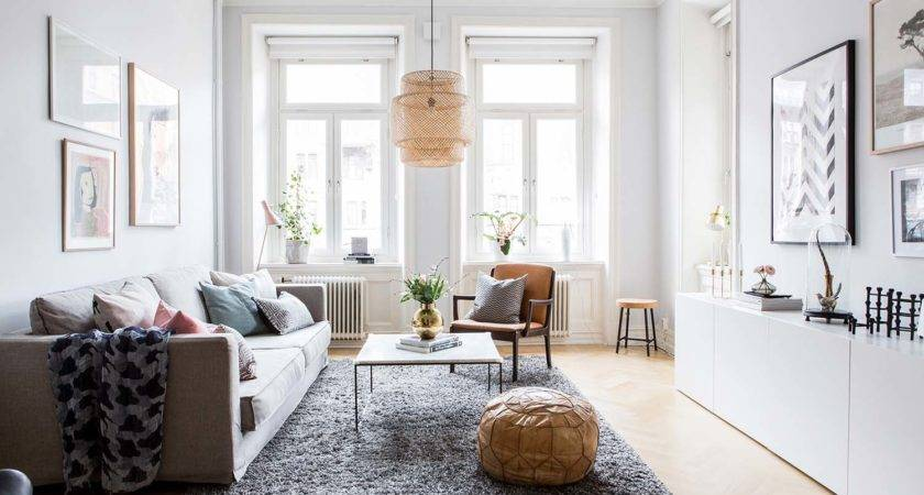 Bright Airy Two Bedroom Scandinavian Apartment Interior