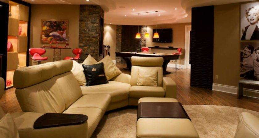 Bright Basement Room Design Ideas