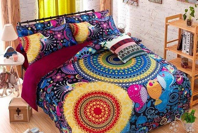 Bright Bohemian Style Piece Duvet Cover Sets