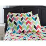 Bright Colored Sheets Bed