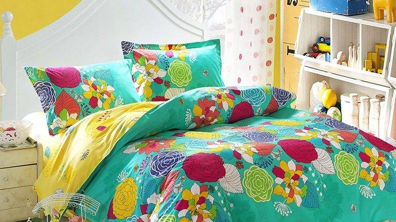 Bright Colorful Bedding Sets Turquoise Yellow Red