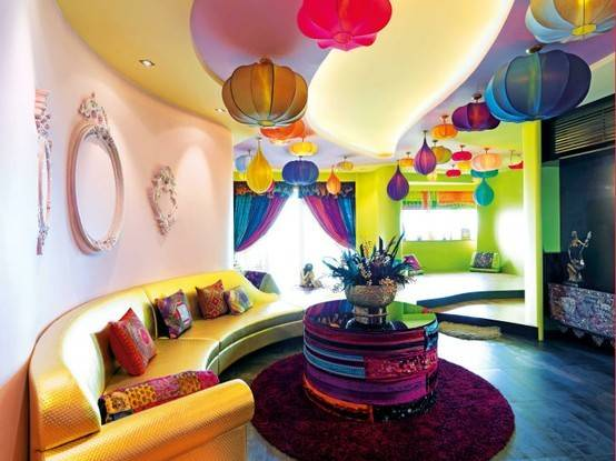 Bright Colorful Living Room Design Ideas Digsdigs