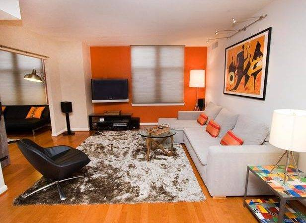 Bright Orange Living Room Designers Portfolio Hgtv
