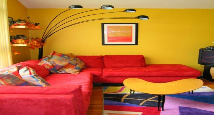 Bright Paint Colors Living Room Red Yellow