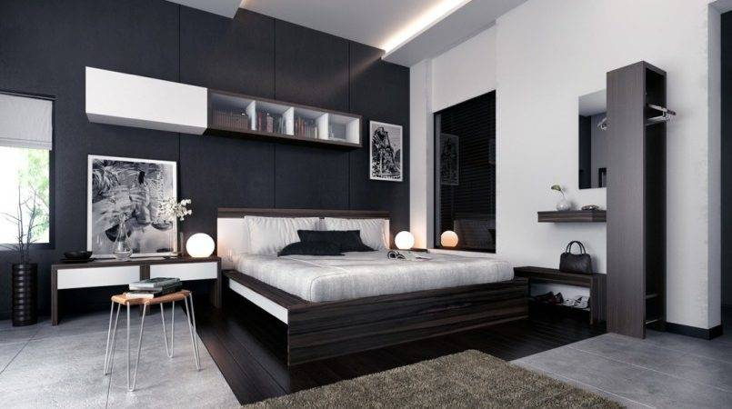 Brown Black Bedroom Furniture Interior Decorating