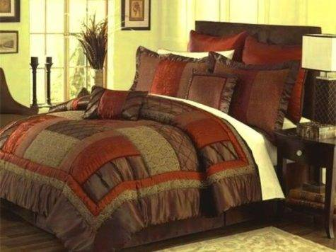 Brown Burnt Orange Bedding Bedroom Ideas