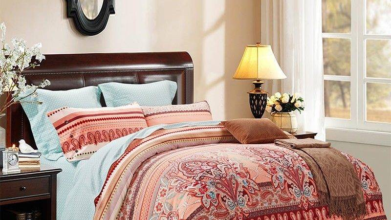 Brown Coral Red Western Bohemian Chic Paisley Pop