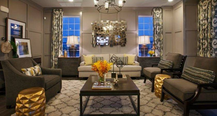 Brown Gold Living Room Ideas