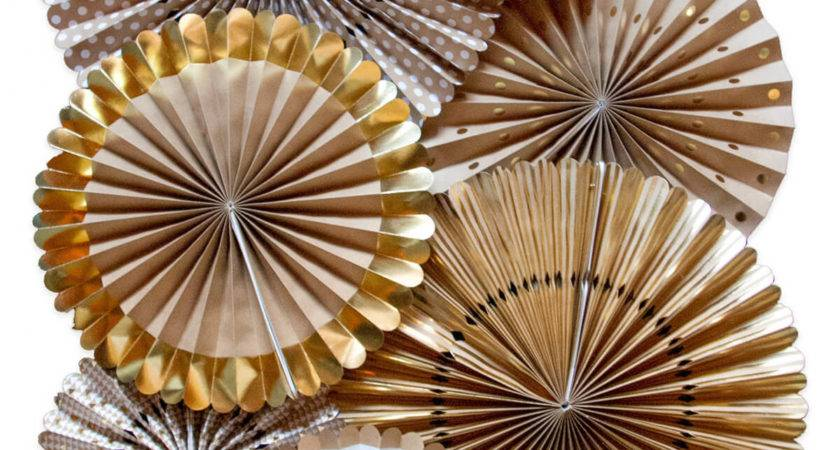 Brown Gold Paper Rosettes