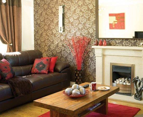 Brown Leather Couch Decorating Living Room Ideas