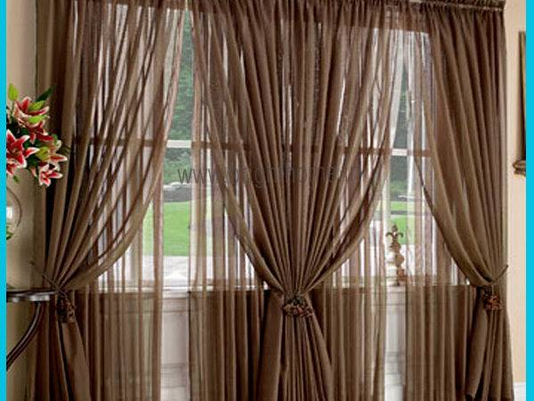 Brown Living Room Curtains Modern House