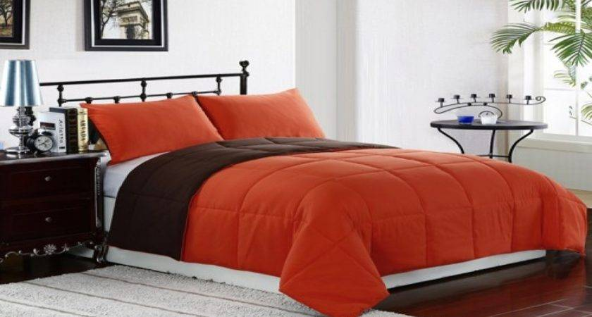 Brown Orange Comforter Sets