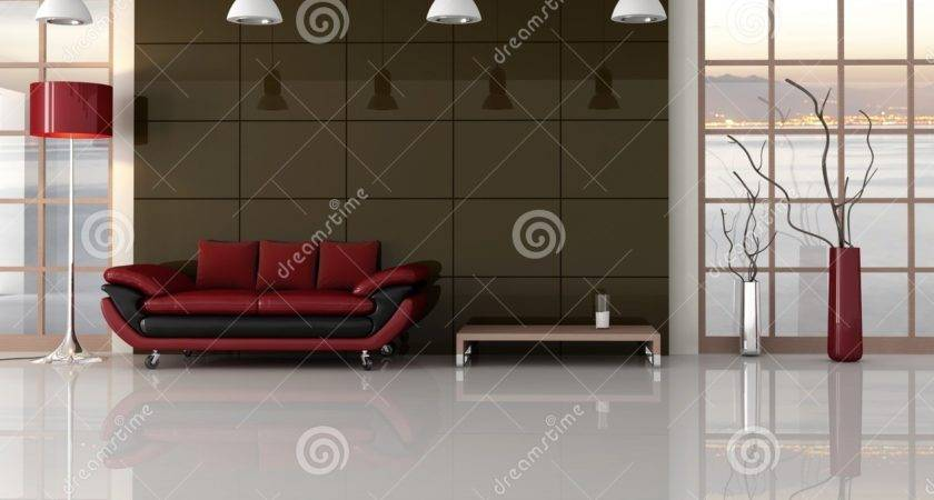 Brown Red Black Living Room Photos