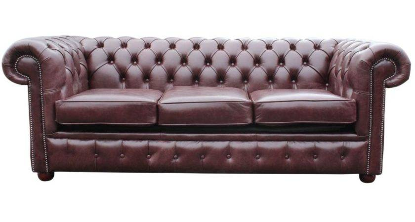 Brown Red Leather Chesterfield Sofa Bed Designersofas