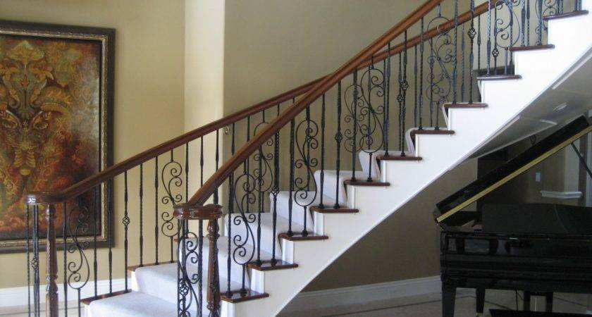 Brown Stairs Railing Designs