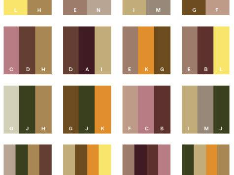 Brown Tone Color Schemes Combinations