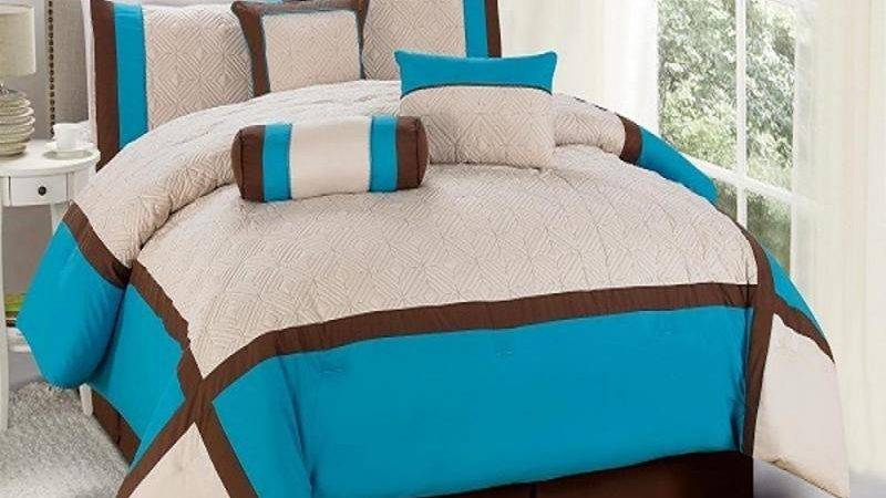Brown Turquoise Bedding Pieces Queen