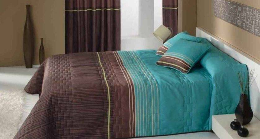 Brown Turquoise Bedding