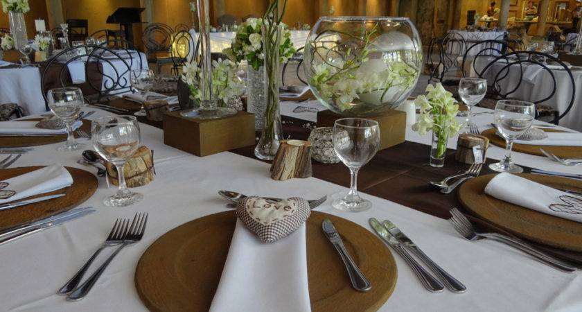 Brown White Wedding Cor Unlimited Events Decor