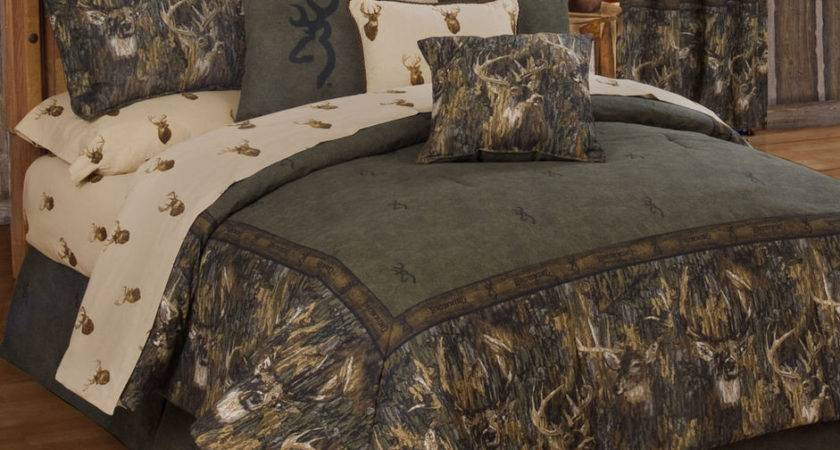 Browning Whitetails Comforter Set Rustic Lodge Cabin