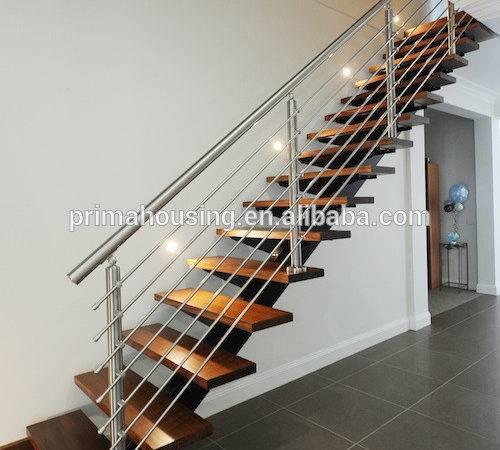 Build Indoor Stairs Wood Prefabric Staircase Stainless