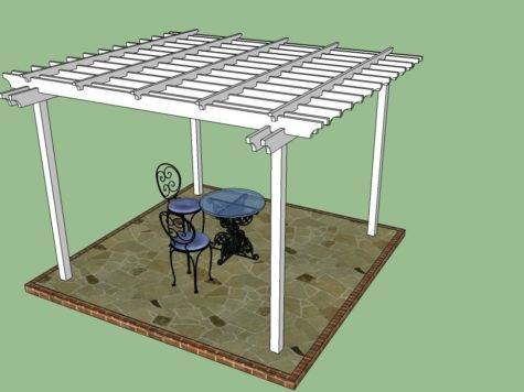 Build Pergola Attached House