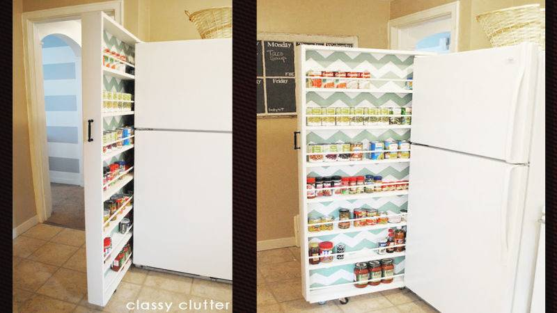 Build Space Saving Roll Out Pantry Fits Between