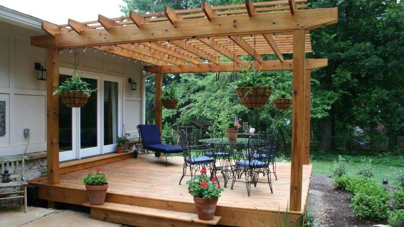 Building Pergola Help Plan Landscaping Lawn