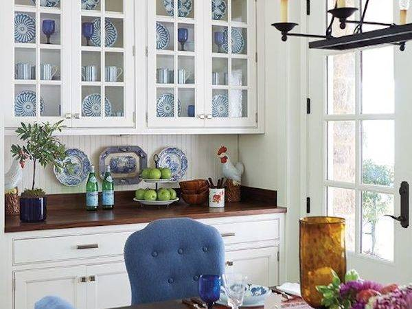 Built Cabinets Dining Room Paint Ceiling Tiles