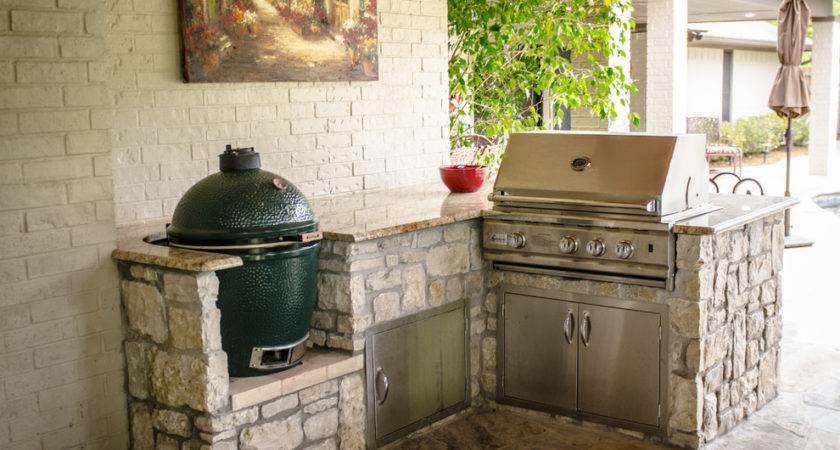 Built Charcoal Grill Patio Traditional Barbecue