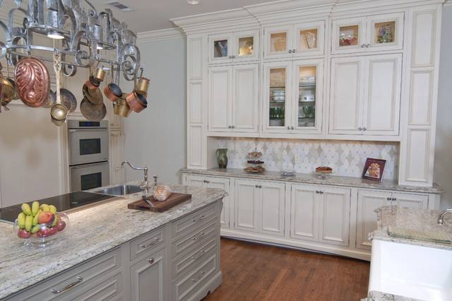 Built Hutch Area Traditional Kitchen Dallas