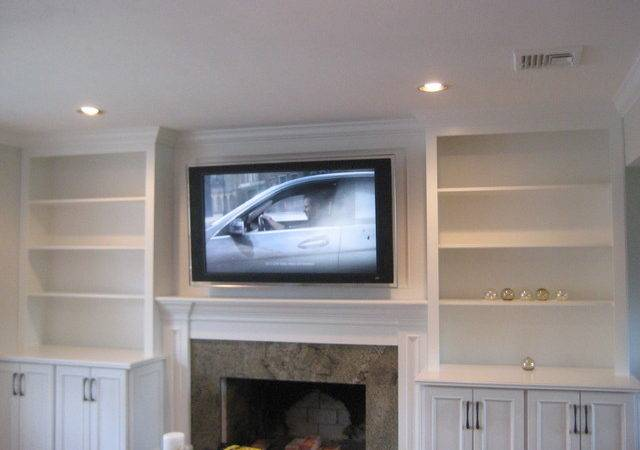 Built Media Unit Custom Cabinets Shelves
