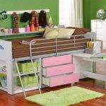 Bunk Bed Desk Storage Loft