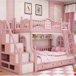 Bunk Bed Pink Childern Solid Wood Bady