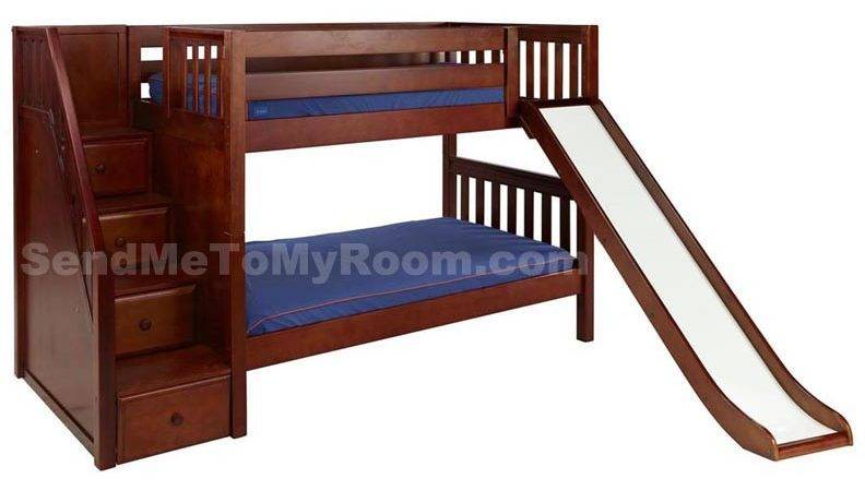 Bunk Beds Stairs Twin Over