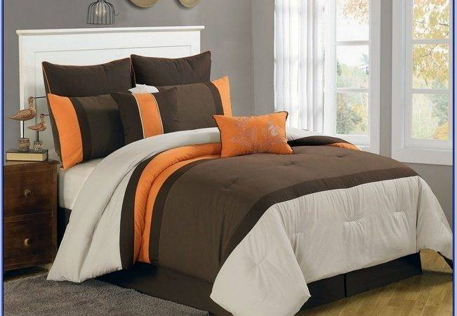 Burnt Orange Comforter Threshold Diamond Stitch Quilt