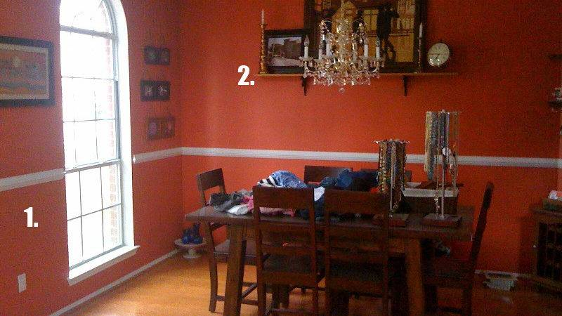 Burnt Orange Dining Room Large Beautiful Photos