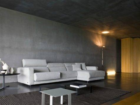 Busnesli Dark Modern Living Room Interior Design Ideas