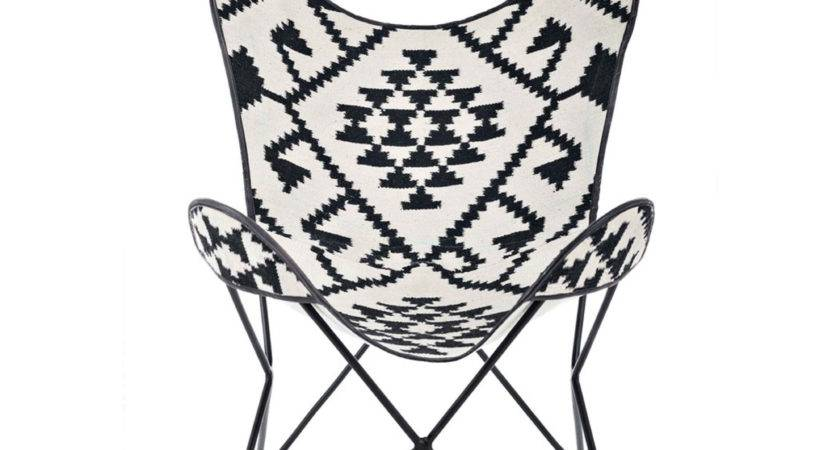 Butterfly Chair Jute Black White Staged Upsell