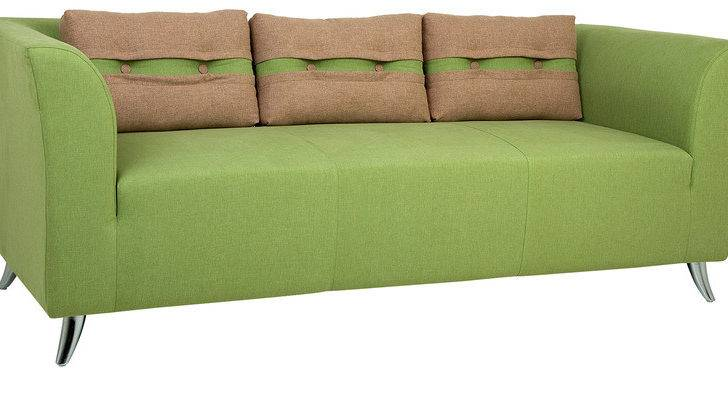 Buy Adelia Three Seater Sofa Pear Green Colour