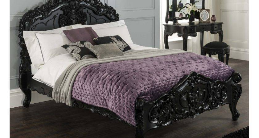 Buy Black Rococo Bed Complete Slatted Base Part