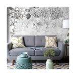 Buy Monochrome Floral Wall Murals Off