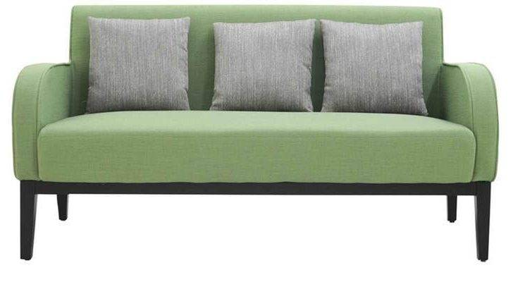 Buy Rome Three Seater Sofa Green Colour Furnitech