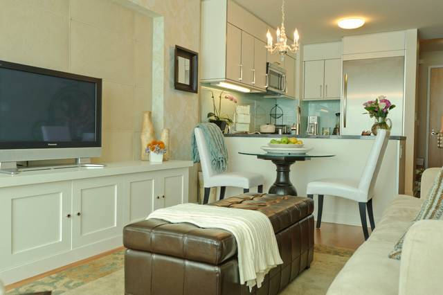 Cabinetry Small Spaces Modern Living Room San