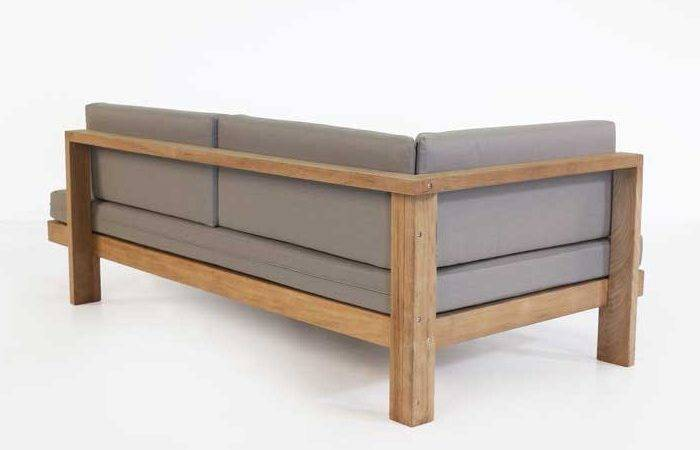 Cabo Teak Daybed Right Outdoor Patio Lounge Seating