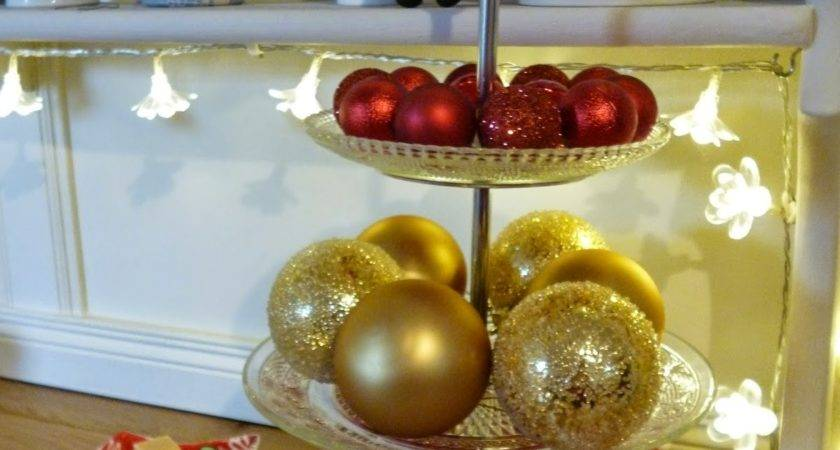 Cake Stand Christmas Table Decoration