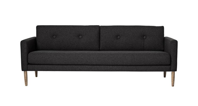Calm Dark Grey Polyester Sofa Woo Design