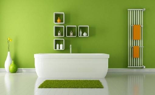 Calming Effect Green Bathroom Design